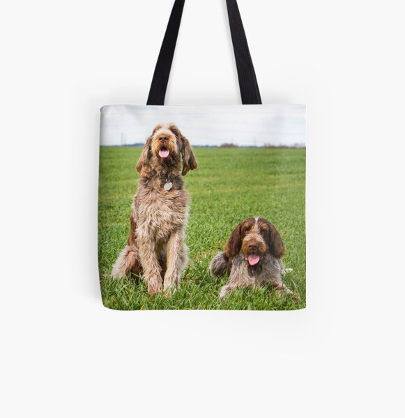 Italian Spinone Dogs Luca and Nico All Over Print Tote Bag