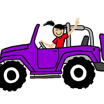 Jeep Wave Purple - Side View by indicap