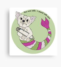 You are Safe Mermutt Canvas Print