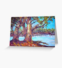 australian bush abstract landscape Greeting Card