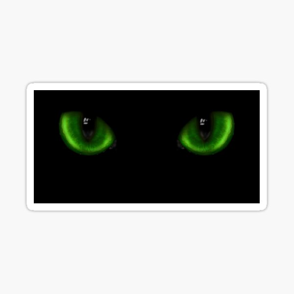 Two green cat eyes Sticker