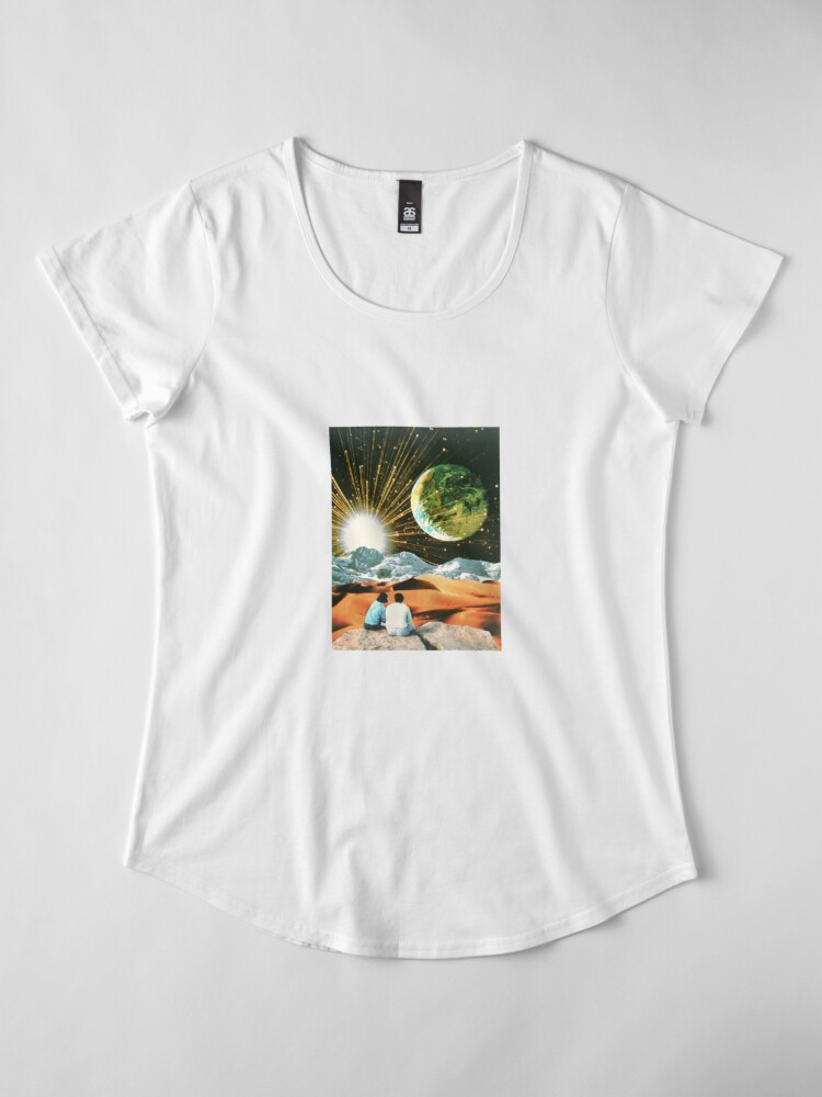Alternate view of Another Earth Premium Scoop T-Shirt