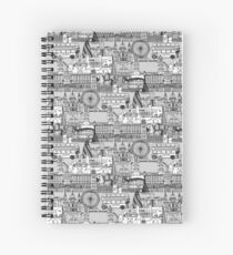 London toile black white Spiral Notebook