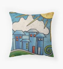 Perfect Blue Buildings Throw Pillow