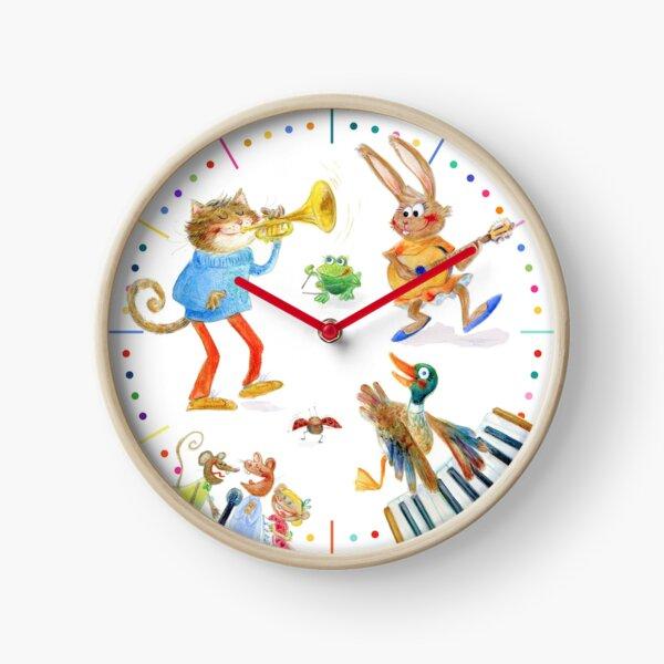 Happy musicians Clock