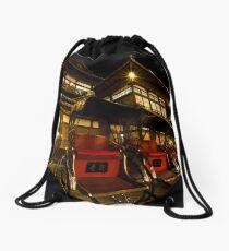 Dogo Onsen, Matsuyama Drawstring Bag