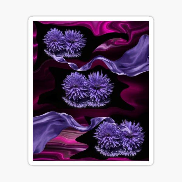 Purple Pink Lavender Nature Flowers Design. Sticker