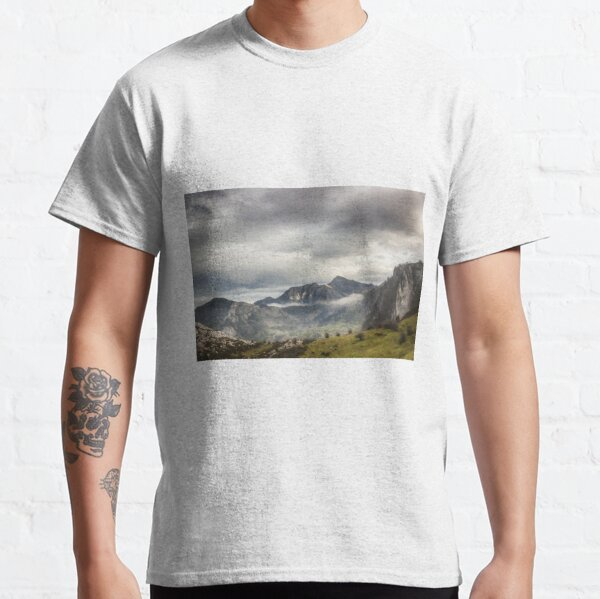 Fog and Clouds over Mountains Classic T-Shirt