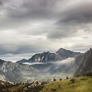 Fog and Clouds over Mountains by Svetlana Korneliuk