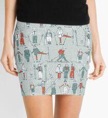 vintage ski linen Mini Skirt