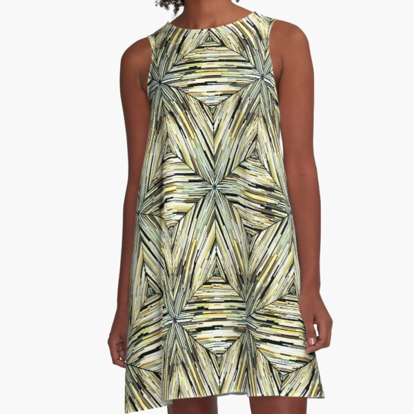 Ethnic pattern. 2 A-Line Dress