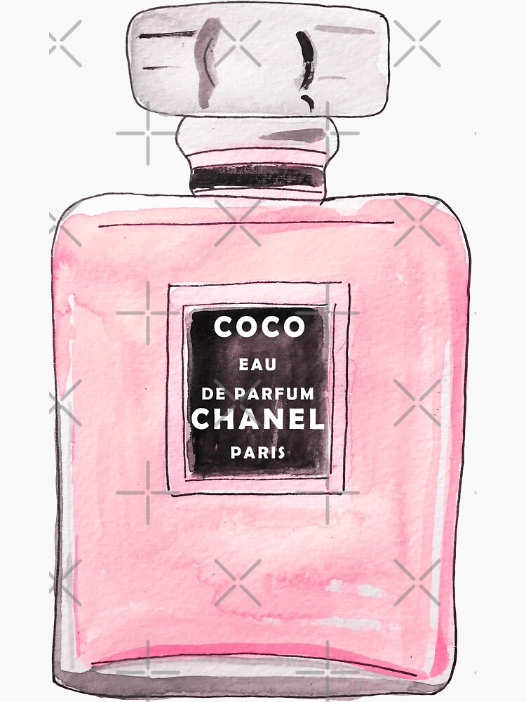 Rosa Parfüm-Flaschen-Aquarell Illusrtation von JillLouise