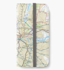 London Underground Geographical Map - Phone/Tablet Case, Poster, Sticker iPhone Wallet/Case/Skin