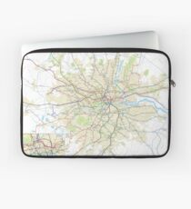 London Underground Geographical Map - Phone/Tablet Case, Poster, Sticker Laptop Sleeve