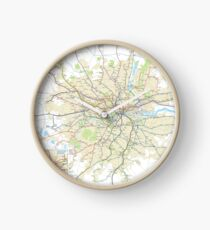 London Underground Geographical Map - Phone/Tablet Case, Poster, Sticker Clock