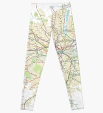 London Underground Geographical Map - Phone/Tablet Case, Poster, Sticker Leggings