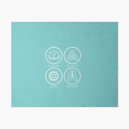 Yoga inspired icons combination Art Board Print