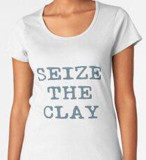 Camiseta premium para mujer Aprovecha la arcilla Cerámica divertido Cerámica Maestro Potter regalos