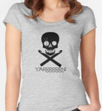 Skull and Hooks Women's Fitted Scoop T-Shirt