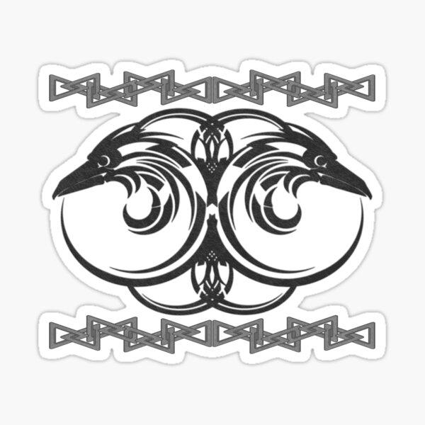 Hugin and Munin - Odin's all seeing eyes Sticker