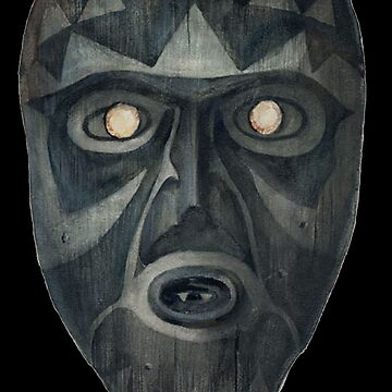 Wooden mask, Key Marco, Florida. by TOMSREDBUBBLE