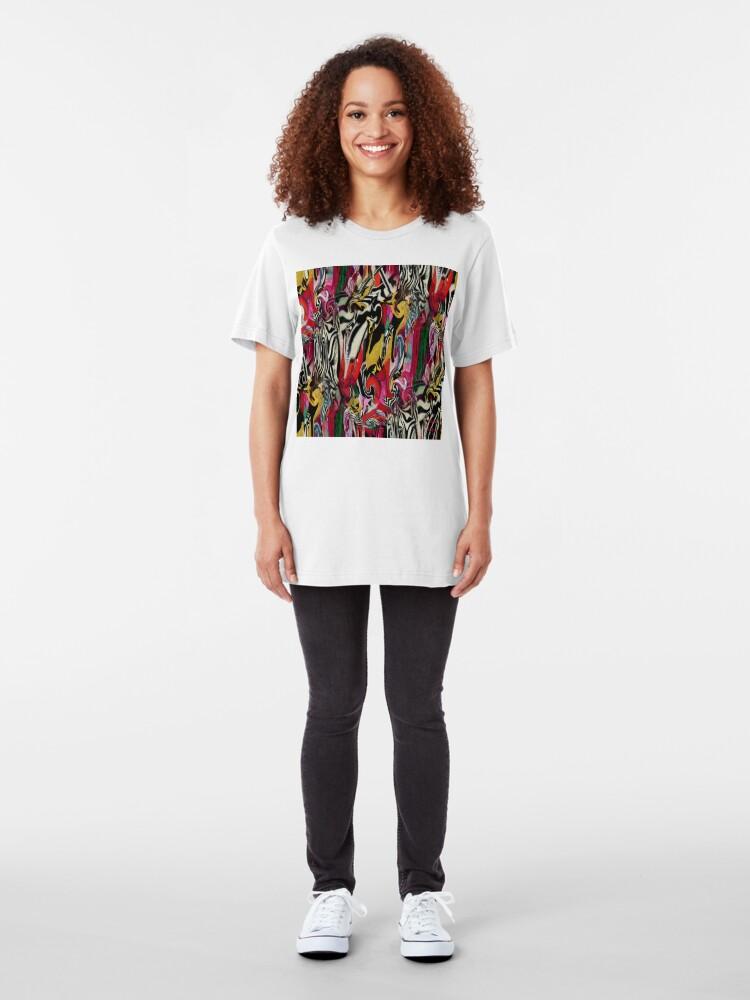 Alternate view of Zebra Dream Slim Fit T-Shirt