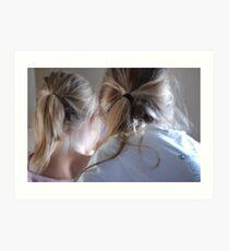 ponytails Art Print