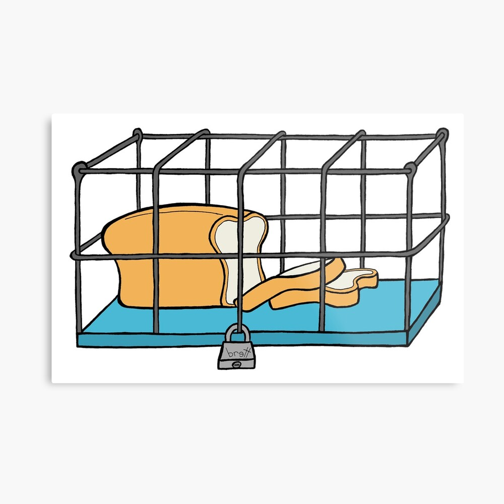 Bread in Captivity Metal Print