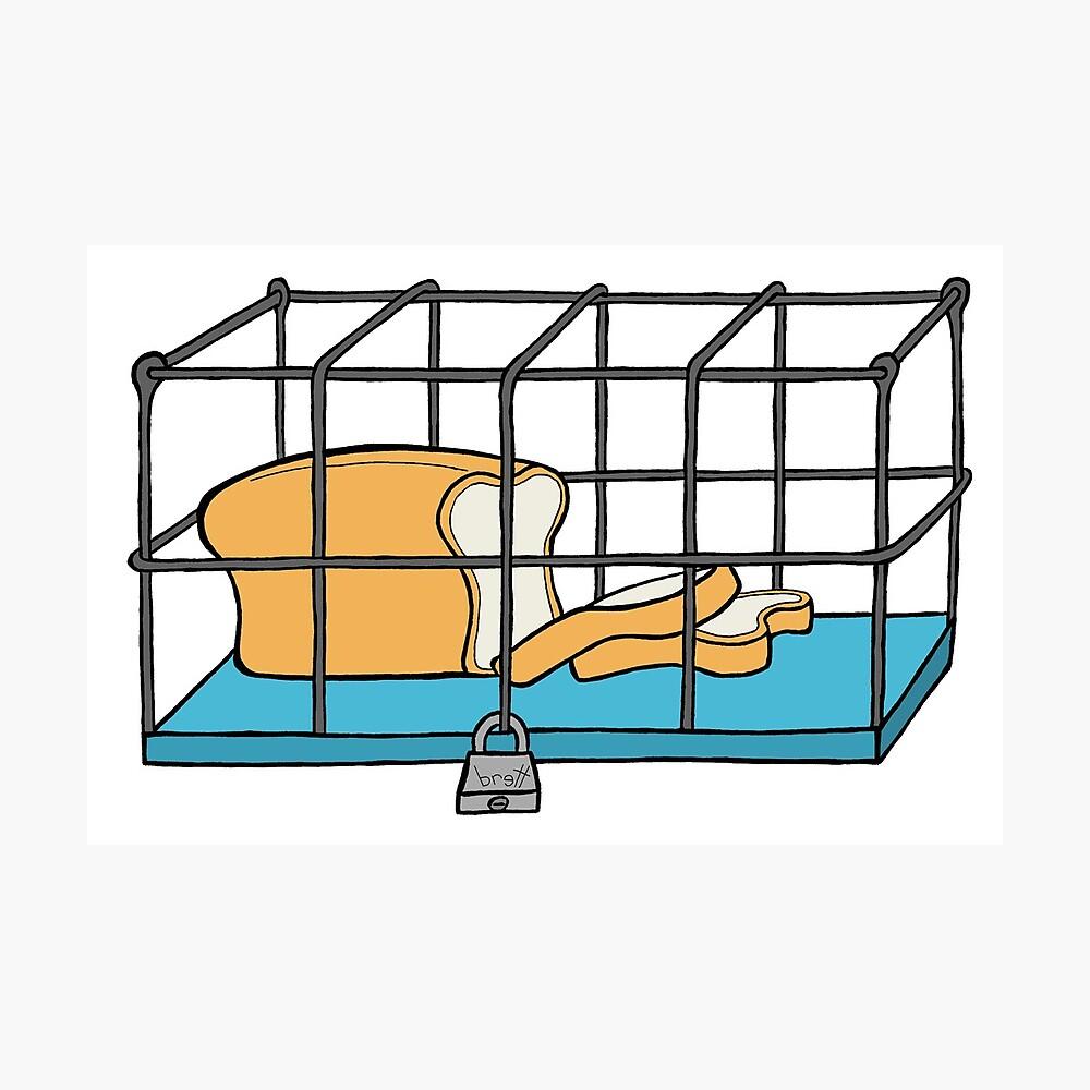 Bread in Captivity Photographic Print
