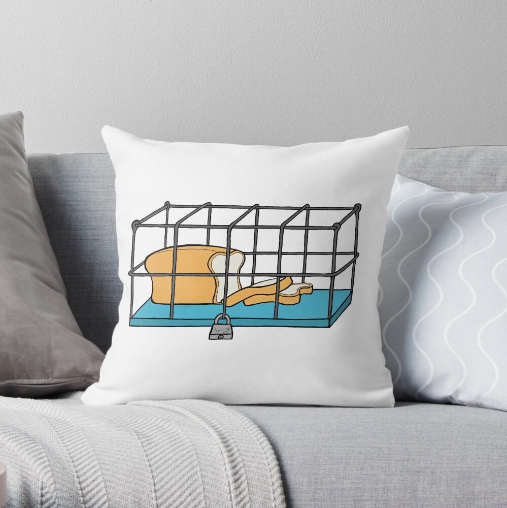 Bread in Captivity Throw Pillow