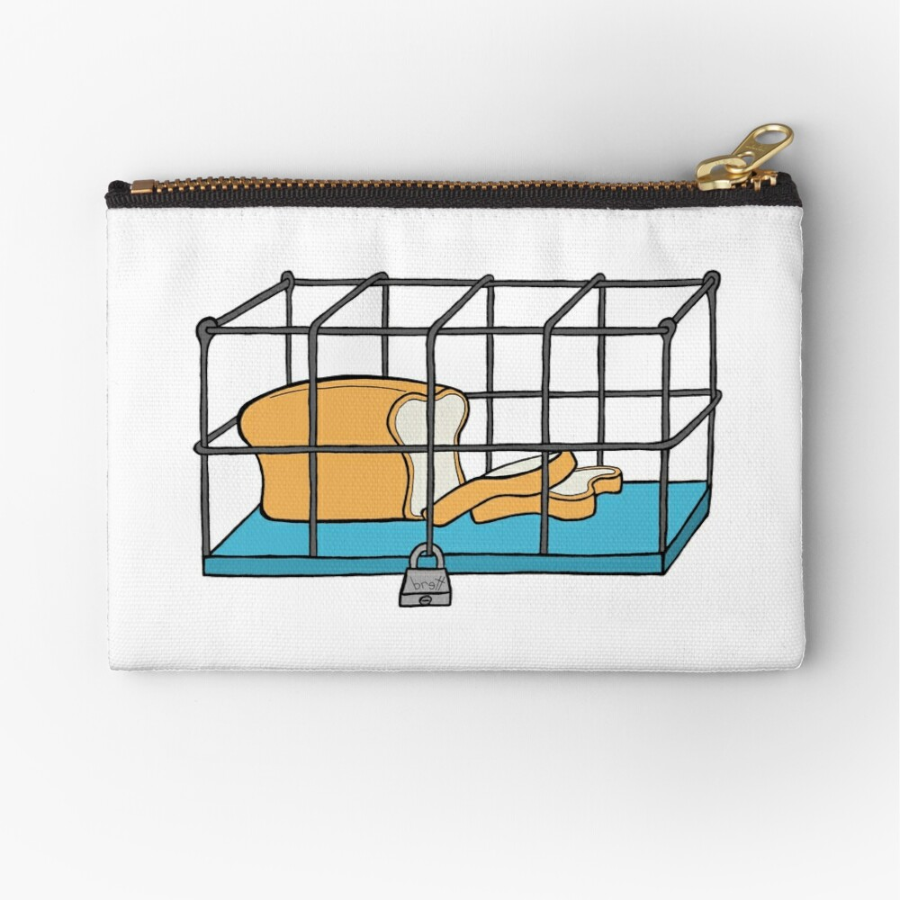 Bread in Captivity Zipper Pouch