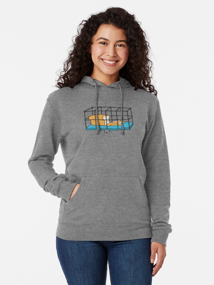 Alternate view of Bread in Captivity Lightweight Hoodie