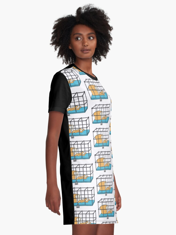 Alternate view of Bread in Captivity Graphic T-Shirt Dress