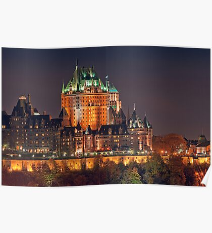 Night View of Le Chateau Frontenac (Version 2), Quebec City Poster