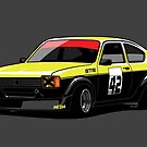 Blitz Kadett C Sporting Coupe GS/E Black Yellow by Tom Mayer