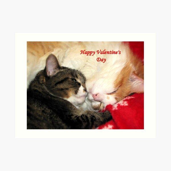 Valentine Kitties Art Print