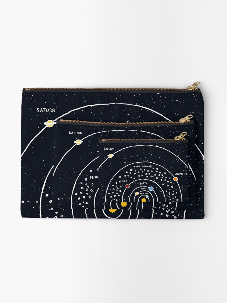 Alternate view of Solar System Zipper Pouch