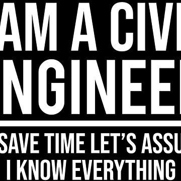 I Am A Civil Engineer I Know Everything T-shirt by zcecmza