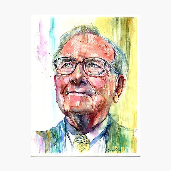 Warren Buffett portrait Photographic Print