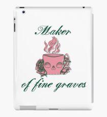 Maker of Fine Graves iPad Case/Skin