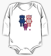 Retro robot family One Piece - Long Sleeve