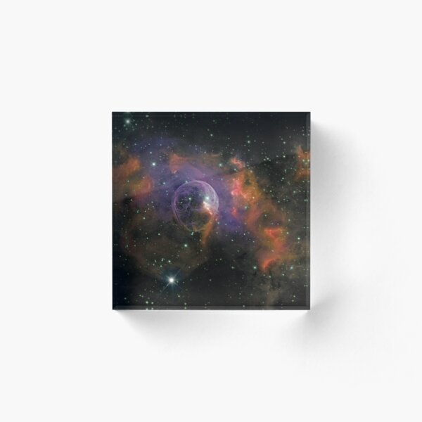 NGC 7635 - The Bubble Nebula Acrylic Block