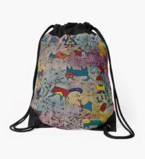 Children painting Drawstring Bag