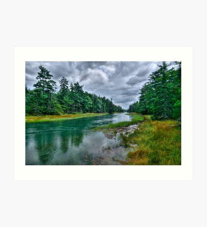 Serenity Before Storm - Maine Art Print
