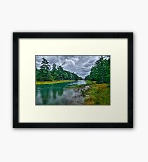 Serenity Before Storm - Maine Framed Print