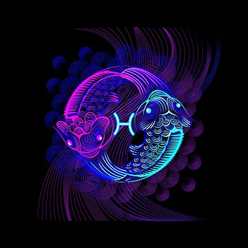 Pisces Neon by DisobeyTees