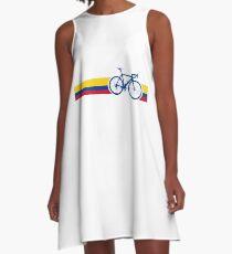 Bike Stripes Colombia National Road Race A-Line Dress