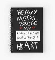 Fall Out Boy Centuries - Heavy Metal Broke My Heart Spiral Notebook