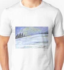Winterlandschaft, Tannenbäume Unisex T-Shirt