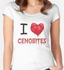 I Love (Heart) Cenobites. Women's Fitted Scoop T-Shirt